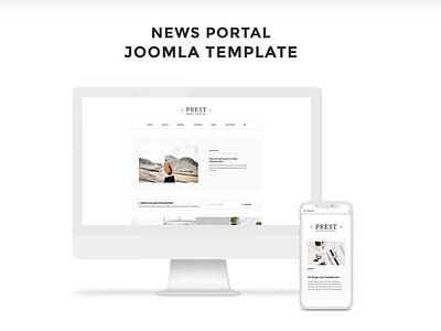 Prest - News Portal Multipage Creative Joomla Template news portal template joomla template joomla multipage template news portal