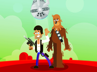 Han Solo Chewy Falcon