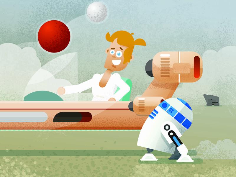 Luke Skywalker vector illustration