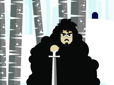 John Snow vector illustration