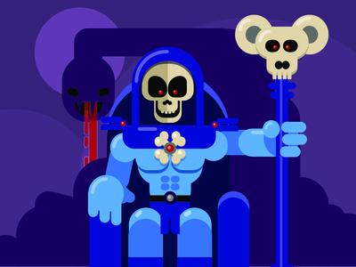 Skeletor Insta vector illustration