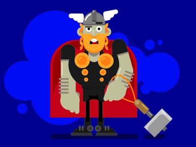 Thor fanart marvel vector movie illustration