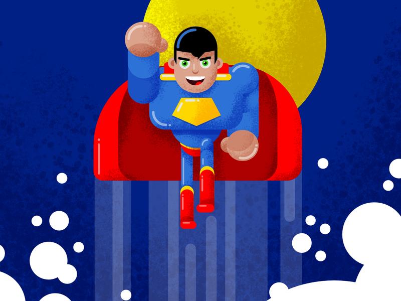 Superman fanart vector movie illustration