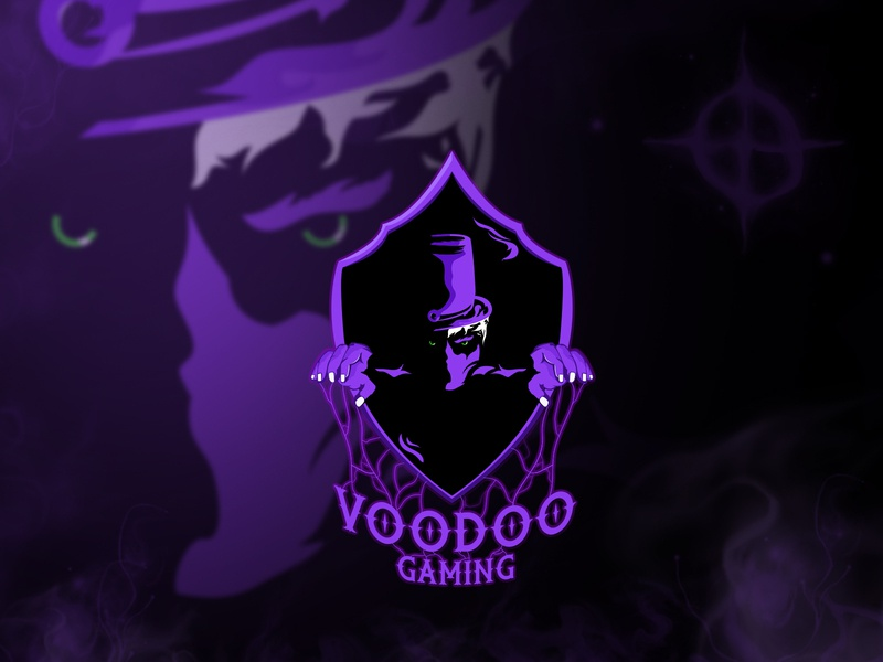 Voodoo Gaming esport logo twitch sports logo gaming branding design esports logo mascotlogo illustration esports