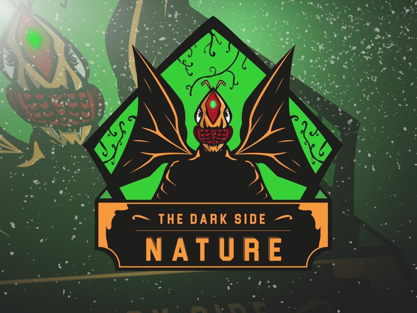 Dark Nature green mascot character dark theme gaming logo mascot logo mascot logodesigner esports logo esportslogo esport logo esport branding twitch sports logo mascotlogo illustration gaminglogo gaming forsale esports