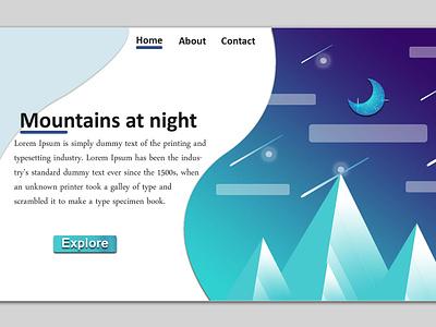 Ui Design samples mountains website uidesign