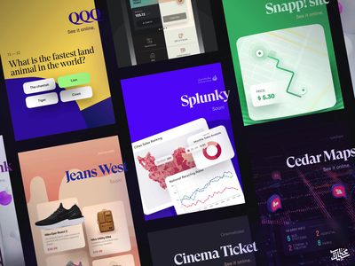 My portfolio - Cards maps cars uber isometric charts illustration cursor app ux clean vector animation 3d dark design ui card cards landing page portfolio