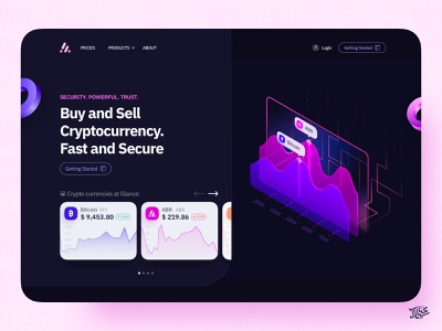 ABR Landing page — Dark Theme web design web video landing page landing ux ui animation payment eccomerce branding coin design dark mode dark ethereum exchange bitcoin app showcase