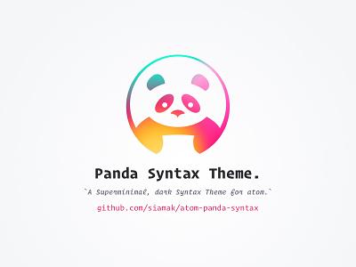 Panda Syntax Theme atomeditor circle colorful panda