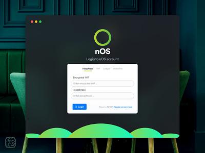 nOS. app ux ui webdesign uidesign design mac fold presentation minimal login