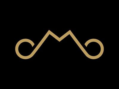 Moroschan - Monogram wordmark typography branding logotype illustration monogram mustache golden gold personal logo m