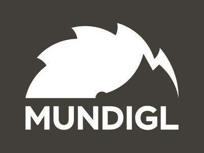 MUNDIGL - Logo wordmark typography logotype identity branding manufactory furniture logo wood hedgehog
