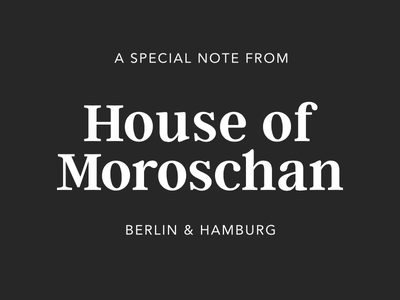 House of Moroschan - Logo wordmark logotype identity branding typography logo