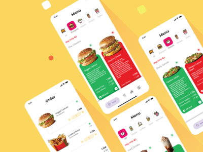 Restaurant Menu App - UI Design design delivery food menu restaurant ux design ui design