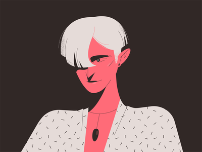 Red Lady blonde necklace woman vector portrait illustrator illustration girl drawing design character design character adobe illustrator