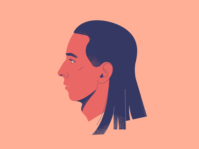Brother long hair red hair boy man flat vector portrait illustrator illustration drawing design character design character adobe illustrator