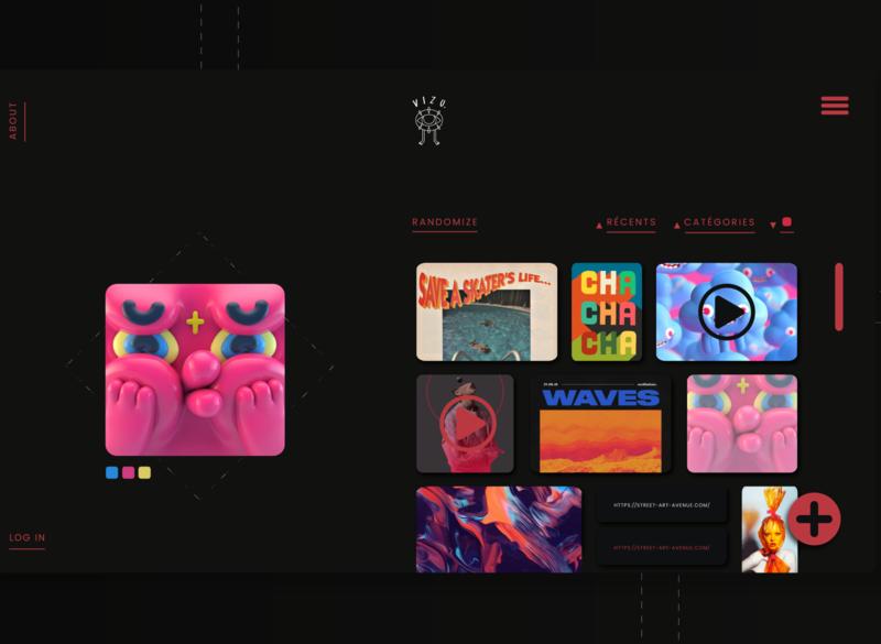 VIZU, gallery page front-end design front-end web development web design web ui html css html webdesign uiux design