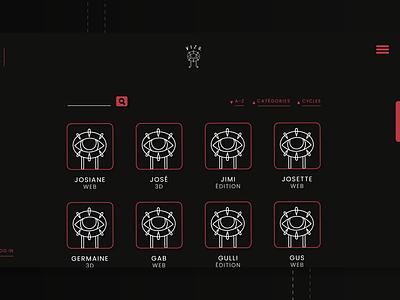 VIZU, profiles page logo branding ui front-end design html css html front-end webdesign uiux design