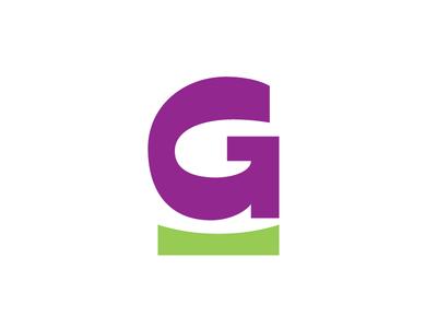 G oldschool retro purple bold fat g