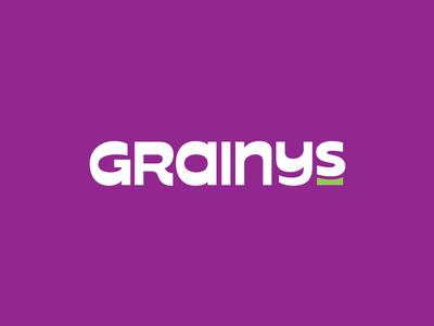 Grainys Logo bold fat retro typedesign logo