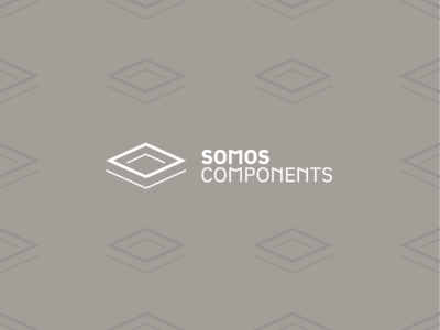 Somos Components logo geometric pattern minimal logo