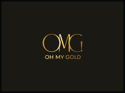 OMG jewellery gold branding logo script logo