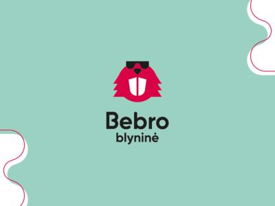 Bebro blyninė clean crêperie flat minimal logo