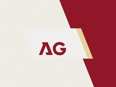 April Group monogram modernist geometric bold design minimal logo