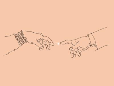 Perfect Brief hands michelangelo minimal vectorart vector illustrator illustration monoline
