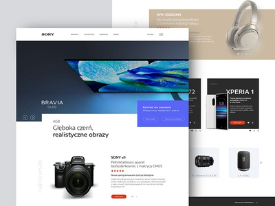 Sony Landing Page