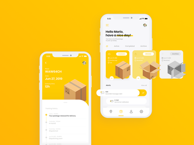 InPost App Design Concept mobile appdesign inpost app vector ux ui design branding