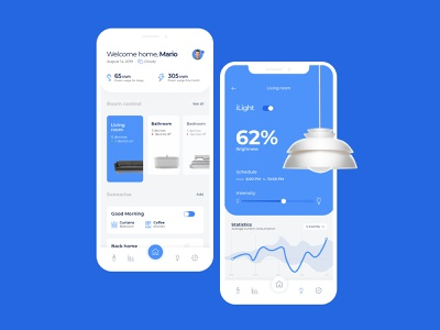 Smart Home App software clean app design home app android app concept flat design ios mobile smart home ui ux design app
