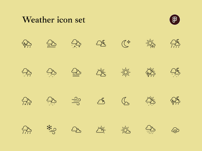 Weather icon set minimal figma uiux design vector illustration uidesign ui weather weather icon icon set icons