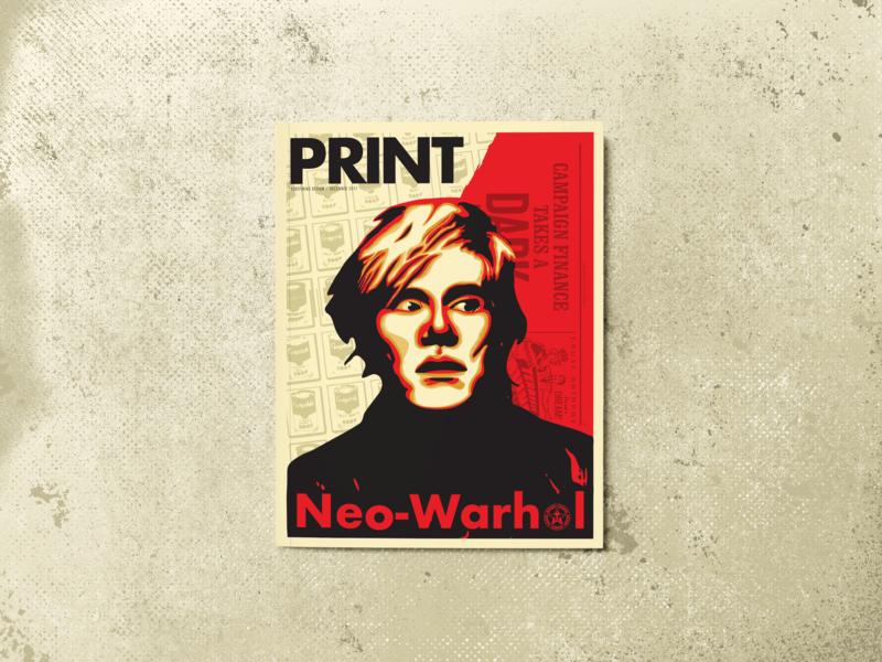 Neo Warhol magazine illustration magazine design magazine cover print magazine design illustration