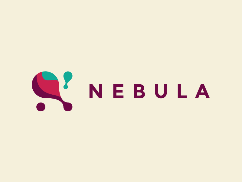 Nebula Logo space nebula connections branding identity logo