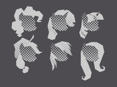 MLP FiM: Pony Heads (Halftone)