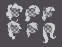 MLP FiM: Pony Heads (Halftone) my little pony mlp halftone fanart vector illustrator
