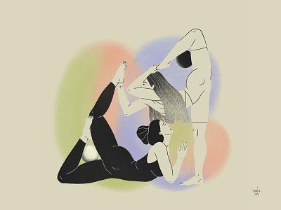 """Yin Yang"" - Oriental series oriental art illustration design character"