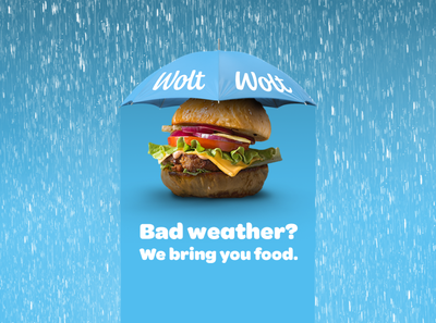 Rain Advert for Wolt
