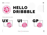 Hello Dribbble - I'm Flávia! first post firstshot hellodribbble hello dribbble website vector ux web ui design