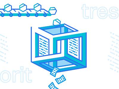 Tresorit Playoff: Encryption Factory design ui playoff factory encryption rebound color affinity designer illustration challenge