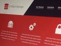 Cloud Storage Solutions Website
