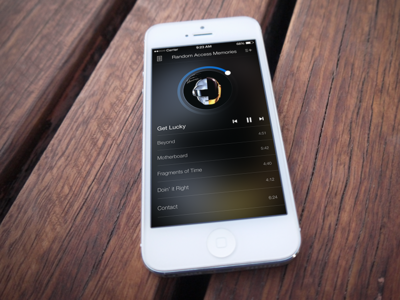 Music Player for iPhone Concept