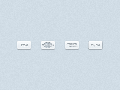 "Semi-Transparent ""Payment Methods"" (FREE PSD) payment buttons icons payment methods purchase options monochrome payment icon"