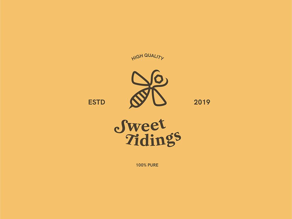 Sweet Tidings design typography illustrator branding logo honey