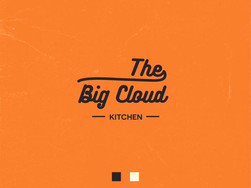 The Big Cloud branding logo vector illustrator design illustration