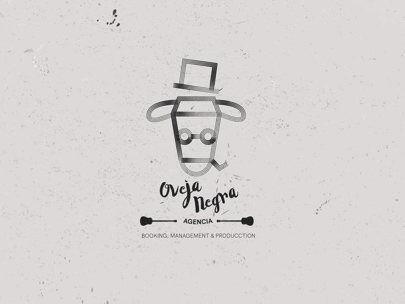 Agencia Oveja Negra handrawn retro vintage branding industry sheep logo music