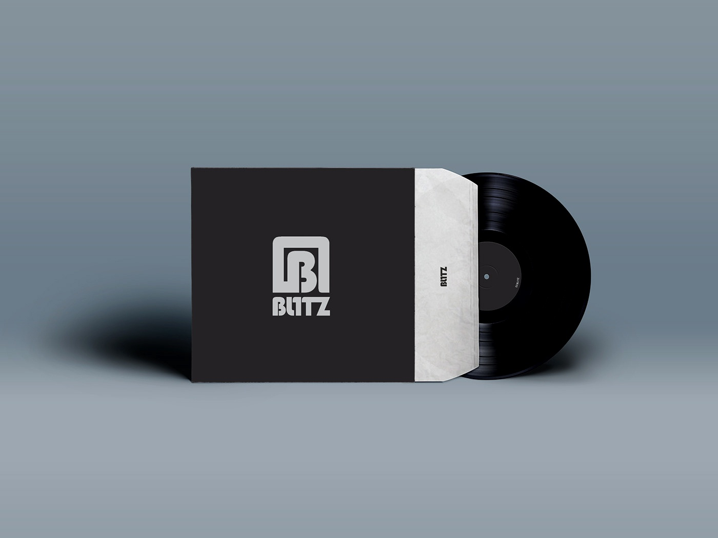 Bl1tz music typography vector illustrator logo illustration design