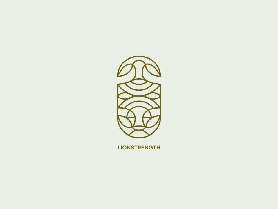 Lionstrength illustration branding vector design logo illustrator