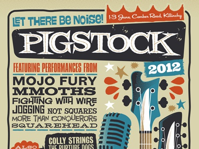 Pigstock Gigposter